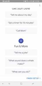 Now the Google Assistant setup is finished