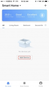 Add device in smart home page