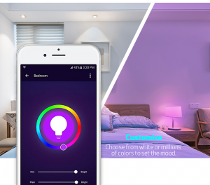 smart light bulb set the mood