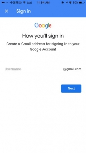 Create a username for Google account