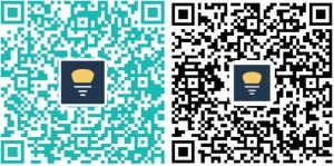 QR code to download the free Mesh Lamp App
