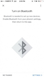 Turn on Bluetooth
