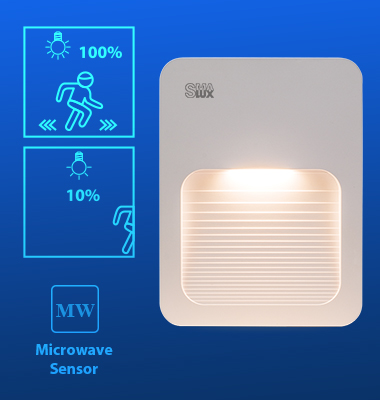 SMAlux 1.5W Ultra Thin Motion Sensor Stair Light