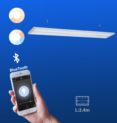 SMAlux 2400MM Bluetooth Control Pendant Light