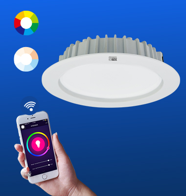 SMAlux 4 inch Multi Color and Tunable Whit Wi-Fi Recessed Retrofit Led Downlight