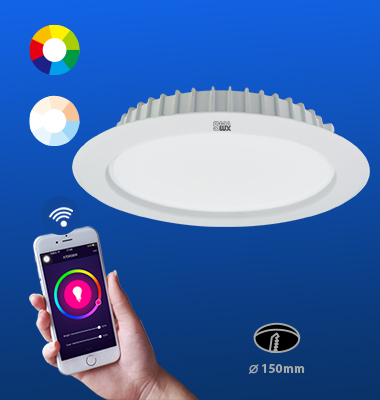 SMAlux 6 inch Multi Color and Tunable Whit Wi-Fi Recessed Retrofit Led Downlight