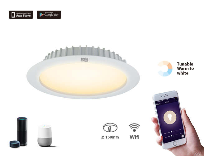 SMAlux 6 inch Tunable Whit Wi-Fi Recessed Retrofit Led Downlight