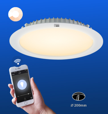 SMAlux 8 inch Dimmable Wi-Fi Recessed Retrofit Led Downlight