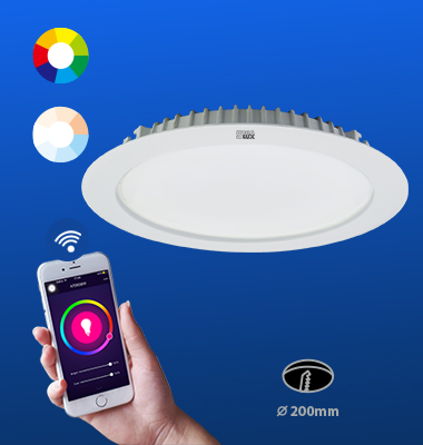 SMAlux 8 inch Multi Color and Tunable Whit Wi-Fi Recessed Retrofit Led Downlight