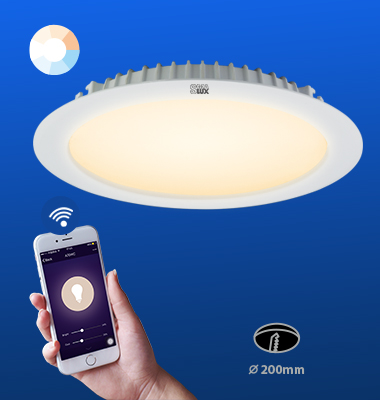 SMAlux 8 inch Tunable Whit Wi-Fi Recessed Retrofit Led Downlight
