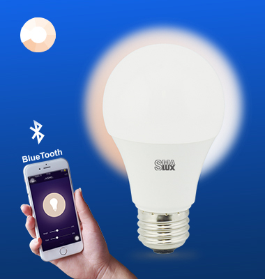 SMAlux A19 Dimmable Bluetooth Smart LED Light Bulb