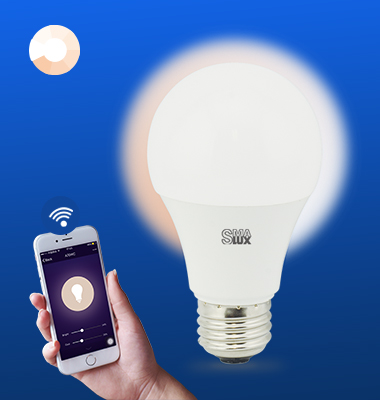 SMAlux A19 Dimmable Wi-Fi Smart LED Light Bulb