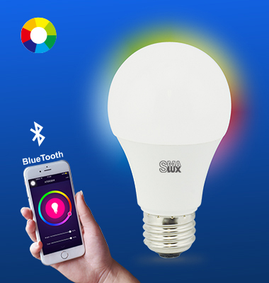 SMAlux A19 Multi Color Bluetooth Smart LED Light Bulb