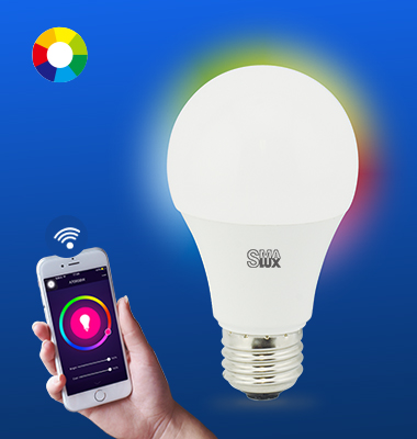 SMAlux A19 Multi Color Wi-Fi Smart LED Light Bulb