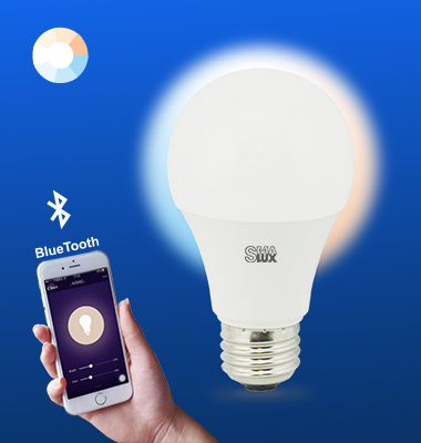 SMAlux A19 Tunable White Bluetooth Smart LED Light Bulb