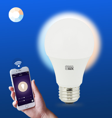 SMAlux A19 Tunable White Wi-Fi Smart LED Light Bulb