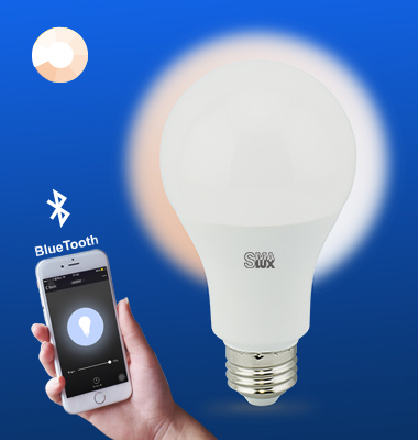SMAlux A21 Dimmable Bluetooth Smart LED Light Bulb