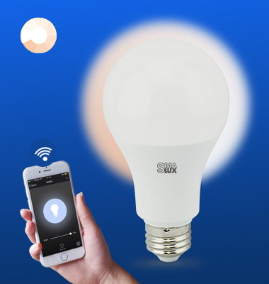 SMAlux A21 Dimmable Wi-Fi Smart LED Light Bulb