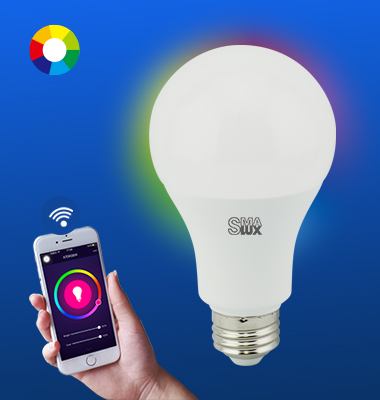 SMAlux A21 Multi Color Wi-Fi Smart LED Light Bulb