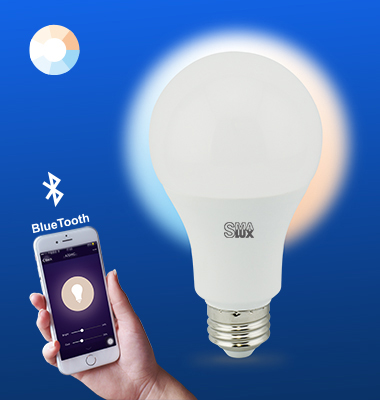 SMAlux A21 Tunable Whit Bluetooth Smart LED Light Bulb