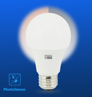 SMAlux A60 Photocell Sensor LED Light Bulb