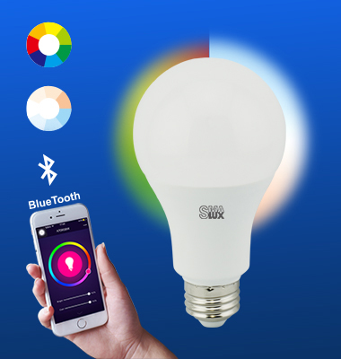 SMAlux A70 Multi Color and Tunable Whit Bluetooth Smart LED Light Bulb