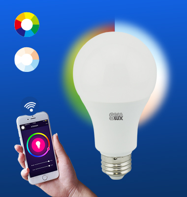 SMAlux A70 Multi Color and Tunable White Wi-Fi Smart LED Light Bulb