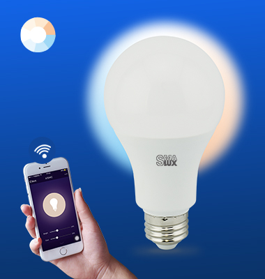 SMAlux A70 Tunable Whit Wi-Fi Smart LED Light Bulb