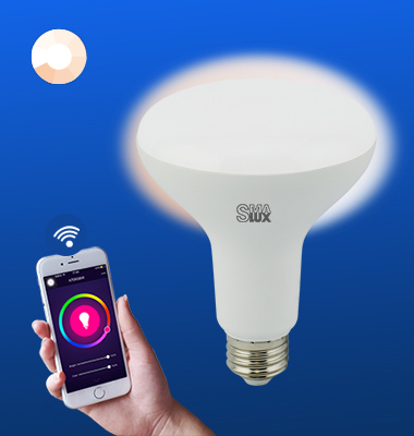 SMAlux BR30 Dimmable Wi-Fi Smart LED Light Bulb