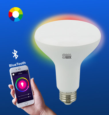 SMAlux BR30 Multi Color Bluetooth Smart LED Light Bulb
