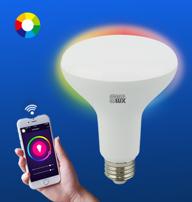 SMAlux BR30 Multi Color Wi-Fi Smart LED Light Bulb
