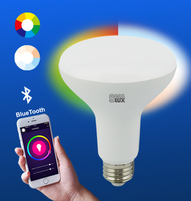 SMAlux BR30 Multi Color and Tunable White Bluetooth Smart LED Light Bulb
