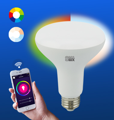 SMAlux BR30 Multi Color and Tunable Whit Wi-Fi Smart LED Light Bulb