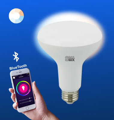 SMAlux BR30 Tunable White Bluetooth Smart LED Light Bulb