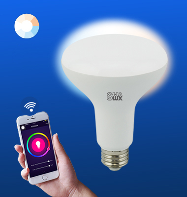 SMAlux BR30 Tunable Whit Wi-Fi Smart LED Light Bulb