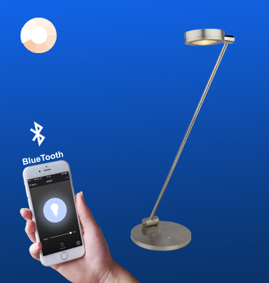 SMAlux Bluetooth Control dimmable Full Metal Desk Lamp
