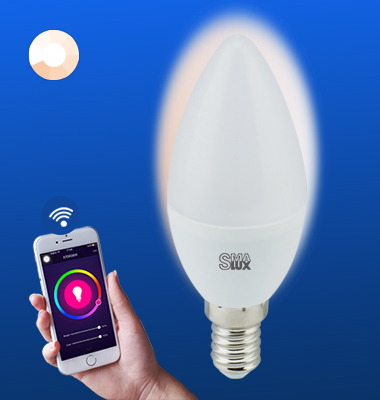 SMAlux Candle Dimmable Wi-Fi Smart LED Light Bulb