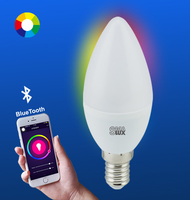 SMAlux Candle Multi Color Bluetooth Smart LED Light Bulb