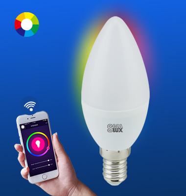 SMAlux Candle Multi Color Wi-Fi Smart LED Light Bulb