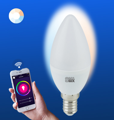 SMAlux Candle Tunable White Wi-Fi Smart LED Light Bulb