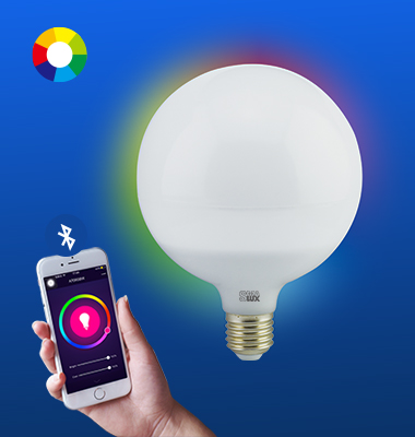 SMAlux G120 Multi Color Bluetooth Smart LED Light Bulb