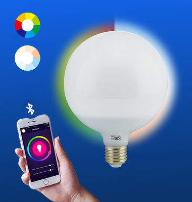 SMAlux G120 Multi Color and Tunable White Bluetooth Smart LED Light Bulb