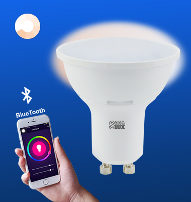 SMAlux GU10 Dimmable Bluetooth Smart LED Light Bulb