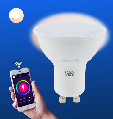SMAlux GU10 Dimmable Wi-Fi Smart LED Light Bulb
