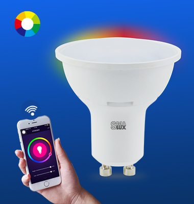 SMAlux GU10 Multi Color Wi-Fi Smart LED Light Bulb