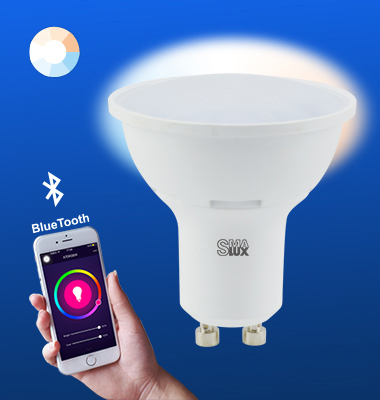 SMAlux GU10 Tunable White Bluetooth Smart LED Light Bulb