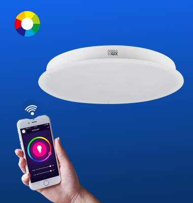 SMAlux Multi Color Wi-Fi Round LED Ceiling Light