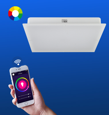 SMAlux Multi Color Wi-Fi Square LED Ceiling Light