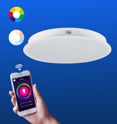 SMAlux Multi Color and Tunable Whit Wi-Fi Round LED Ceiling Light