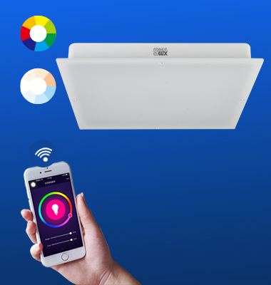 SMAlux Multi Color and Tunable Whit Wi-Fi Square LED Ceiling Light